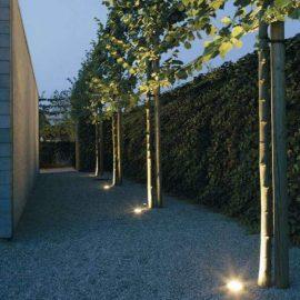 Luminarias de piso y de jardin